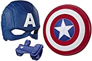 Marvel Avengers Captain America Roleplay Set (Captain America Mask and Magnetic Shield Toy for Role Play)