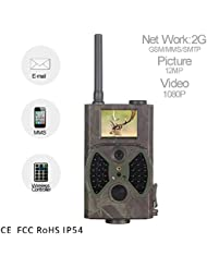 Profesional Caza Trail Juego Cámara Portátil Resistente al agua IP542G GPRS MMS SMTP/SMS 12MP 1080P 120grados cámara de vigilancia digital de infrarrojos con disparador de rápida de movimiento Visión Nocturna para la caza de bajo brillo