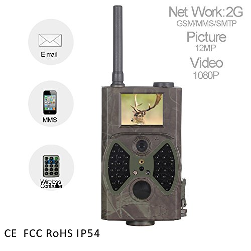 Profesional chasse Trail Jeu Appareil photo portable étanche IP542G GPRS SMTP MMS/SMS 12MP 1080P 120° faible infrarouge détecteur de mouvement Vision nocturne déclenchement rapide Appareil photo numérique de surveillance pour la chasse