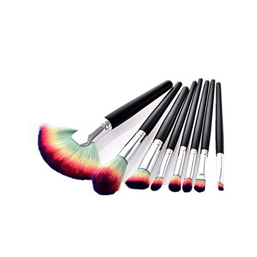 URSING 10 Pcs Beauté Maquillage Brosses Ensemble de Beauté Avancée Ensemble Cosmétique Outils Set Pinceaux Maquillage Professionnel Pochette de Voyage Haut de Souples Brushes (Taille unique, Noir)