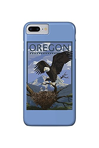 Oregon - Eagle Perched with Chicks (iPhone 7 Plus Cell Phone Case, Slim Barely There) -