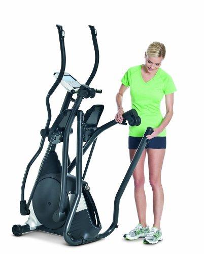 Horizon Fitness Elliptical Ergometer Andes 5, schwarz/ silber, 182 x 65 x 189 cm - 4