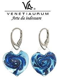 Venetiaurum - Murano glass and 925 silver earrings, Made in Italy