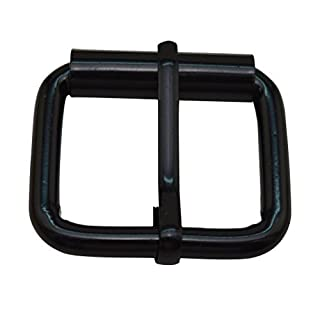 Amanaote Black 1X0.8 Inner Size Non Welded Rectangle Buckle with sliding Pin for Strap Pack of 10 by Amanaote