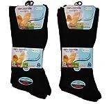 Pour homme chaussettes noires non élastiques 100% coton EU 39.5-44.5 ...