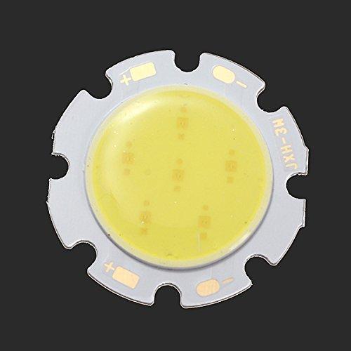 Bluelover B 3W Weiße Runde Cob LED SMD Chip Lampe 6000-6500K 28Mm (Zebra-streifen-lampe)