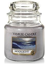 Yankee Candle 1507660E Bougie Parfumée Moyenne Jarre Claire de Lune Combinaison Violet 9,5 x 9,5 x 13,8 cm 410 g