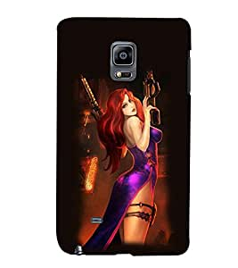 PRINTSWAG ACTION GIRL Designer Back Cover Case for SAMSUNG GALAXY NOTE EDGE/NOTE4 EDGE DUAL