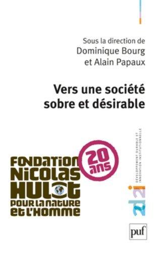Vers une socit sobre et durable de Dominique Bourg (sous la direction de) (2 mai 2010) Broch