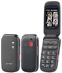simvalley MOBILE Seniorenhandys: Komfort-Klapphandy XL-948 mit Garantruf Premium & 25-dB-Hörverstärker (Klapptelefon)