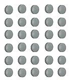 Natthom 30x Magnete, Grau Ø 24mm, Haftmagnete für Whiteboard, Kühlschrankmagnet, MagAusgezeichnetafel, Magnetwand, Magnet Rund