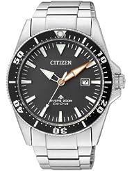 Citizen Herren-Armbanduhr Analog Quarz Edelstahl BN0100-51E