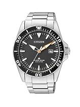 Citizen Herren-Armbanduhr XL Promaster Sea Eco-Drive Diver Analog Edelstahl BN0100-51E