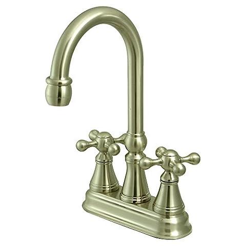 Kingston Brass KS2498KX 4 Inch Center Bar Faucet - Satin