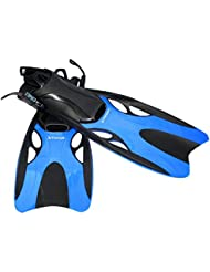 Fortuning's JDS® Buceo aletas de natación equipo de snorkel en azul