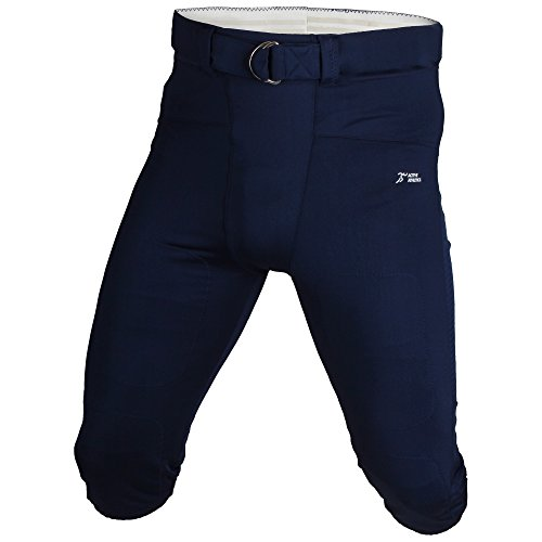 Active Athletics American Football Hose, Gamepants No Fly (mit Breitem Gürtel) - Navy L