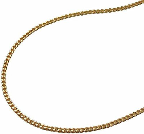 Unbespielt Modeschmuck Kette Halskette Panzerkette vergoldet 2 x diamantiert für Frauen Länge 40 cm x 1,3 mm Anhängerkette Double Collier Damen