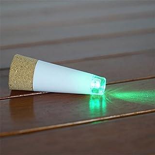 Aquiver Bottle Light Cork Shaped Rechargeable USB LED Night Light Wine Bottle Lamp Wine Cork Stopper Lamp Wedding Decor,Christmas Party (Green)