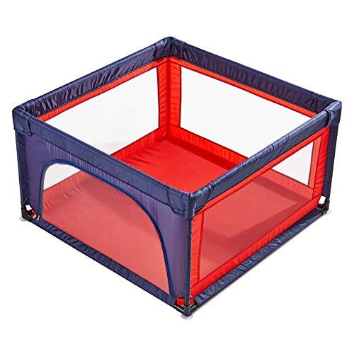 Parc pour bébé avec Porte, Parc pour bébé Portable avec Ventouse, séparateur de Chambre pour Enfants Anti-Renversement, Chambre d'enfant, Hauteur 70 cm (Couleur : Blue+Red)