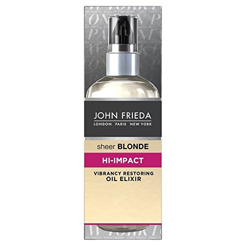 John Frieda Schiere Blonde Hallo Wirkung Öl Elixier 100Ml (Packung mit 4) (Schiere Öl)