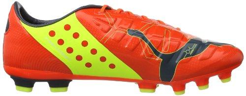 Puma evoPOWER 1 AG, Scarpe da calcio uomo Rosso (Rot (fluro peach-ombre blue-fluro yellow 01))