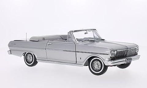 Chevrolet Nova Convertible, silber, 1963, Modellauto, Fertigmodell, Sun Star 1:18