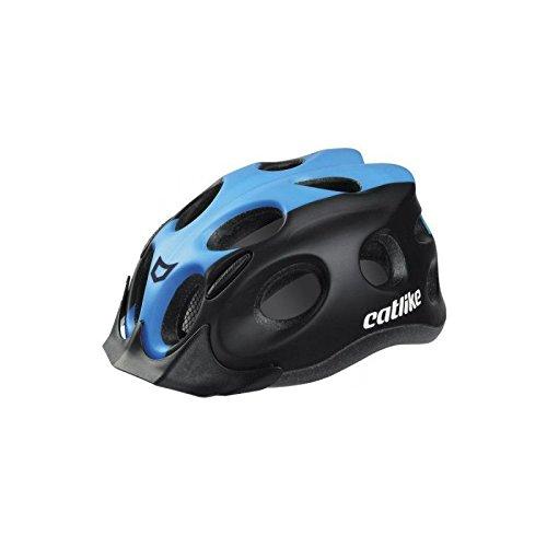 Catlike Tiko Casco de Ciclismo, Unisex Adulto, Negro/Azul (Mate), M/55-61 cm