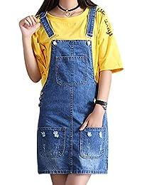 brand new cc0d8 2df8f Amazon.it: Gonna jeans Salopette: Abbigliamento