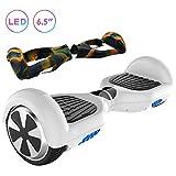 RCB Hoverboard auto-équilibré Gyropode 6,5 ' Intelligent Scooter pour Adultes Enfants -UL2272 certifié avec LED Equipé Monteurs Puissant 2 * 350W