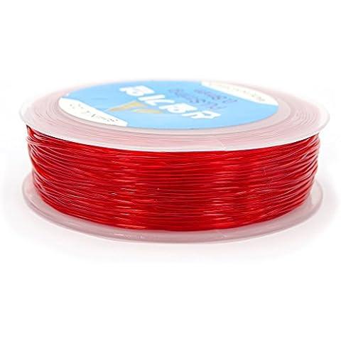 jennysun2010coreana Forte elastico cavo cavo di filo per DIY Bigiotteria Bracciale Collana Design, 5 Reel Red, 1 mm - Wire Nome Collane