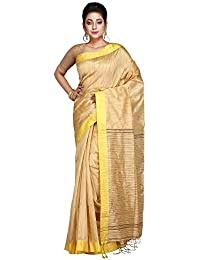 Hawai Stylish and Traditional Gold Colour Silk Cotton Saree