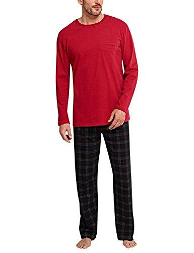 iteiliger Schlafanzug Selected Premium Anzug Lang, Rot (Bordeaux 502), Small (Herstellergröße: 048) (Karierten Anzug)