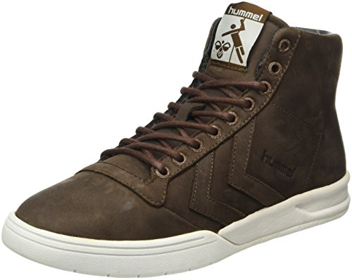 hummel Hml Stadil Winter High Sneaker, Scarpe da Ginnastica Alte Unisex - Adulto, Marrone (Chestnut), 43 EU