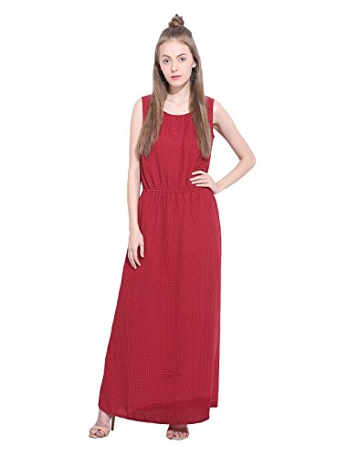 Printed Maxi Dress X-Small  available at amazon for Rs.250