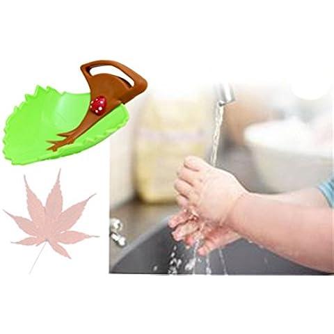 Affe Cute Foglia design lavabo rubinetto Chute Extender bambini bambini