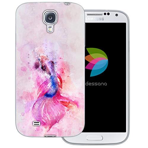 dessana Exotische Fische Transparente Silikon TPU Schutzhülle 0,7mm dünne Handy Tasche Soft Case für Samsung Galaxy S4 Koi Karpfen