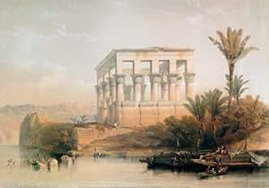 Reproduction d'art 'Temple de Philae', de David Roberts, Taille: 100 x 70 cm