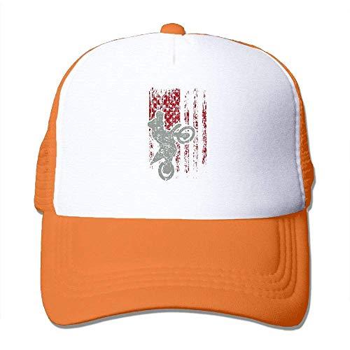 Voxpkrs Motocross USA Flagge Adjustbale Baseballmützen Sommer Sun Hat Tracker Cap U8I0013271