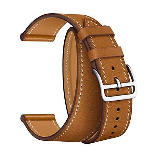 Omiky Doppelte Lederarmband Armband Ersatzband für Apple Watch 1234 38 / 40mm Apple Watch universal Serie 4/3/2/1 38mm 40mm doppelkreis Leder austauschbares Armband