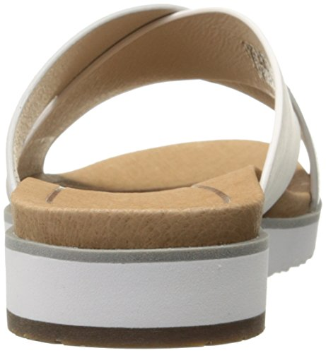 Ugg Australia Women's Kari Women's Leather Silver Slides Leather Gris