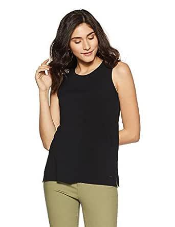 VERO MODA Women's Regular Fit Top (10194203-1964020026_Black_x-Small)