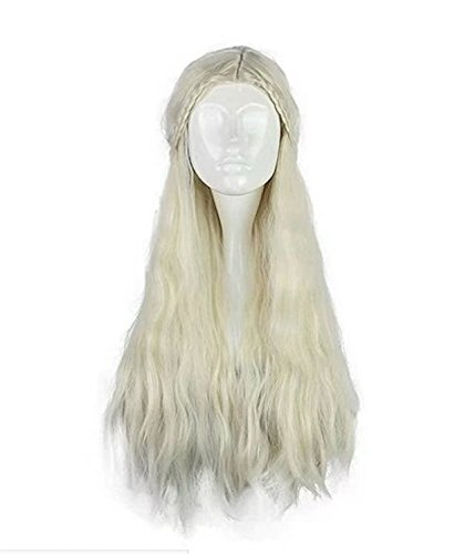 COSPLAZA Perücke Women Long Wavy Curly Heat Resistant Synthetic Hair Comic Cons Cosplay Wigs (Beige)