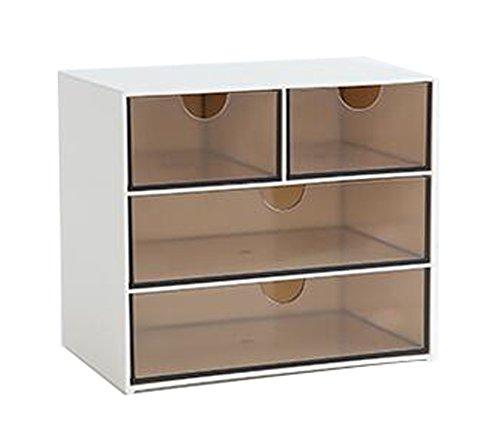 Oficina moderna de plástico de almacenamiento de escritorio Organizador de cajones-4 gabinetes...