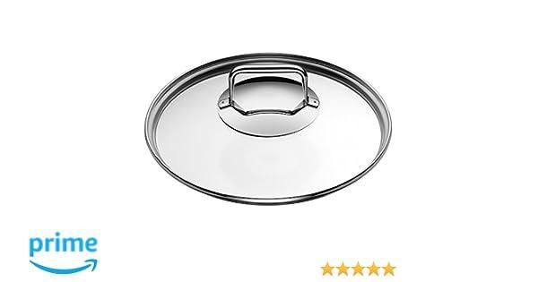 20 cm Topfdeckel mit Metallgriff sp/ülmaschinengeeignet hitzebest/ändiges Glas WMF Diadem Plus Glasdeckel