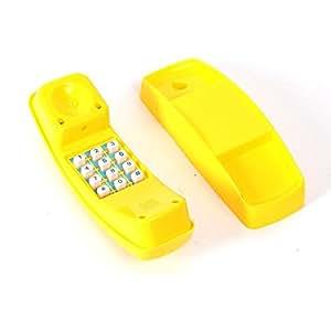 Téléphone jouet pour enfant en plastique jaune