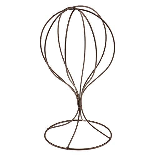 Sharplace Perücken Standplatz beweglicher Perückenständer, Perückenhalter Perücke Trockner - Metall Hutständer Mützenständer Hüte Kappe Verkaufsständer - Bronze
