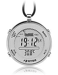 jusheng® Spovan spv600Outdoor Wasserdicht Digital Angeln Barometer Unisex Taschenuhr geeignet für Klettern Running Fischen Wettbewerb und andere Sportarten