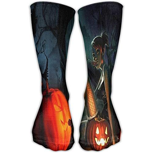 tch Pumpkin Fun Novelty Long Sock Crew Athletic Tube High Stockings Sport ()