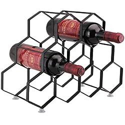 Kitchenista Portabotellas de 9 botellas de vino - Portabotellas de vino de pie - Diseño contemporáneo y único No requiere montaje.