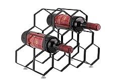 Idea Regalo - Kitchenista Portabottiglie da vino da 9 bottiglie Stand - Portabottiglie in piedi - Design unico contemporaneo Non è richiesto alcun montaggio